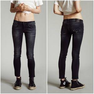 R13 Black Wash Kate Skinny Low Rise Denim Jeans 25